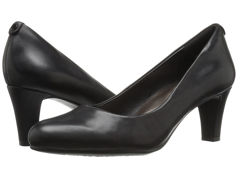 Easy Spirit - Avalyn (Black Leather) Women's Shoes