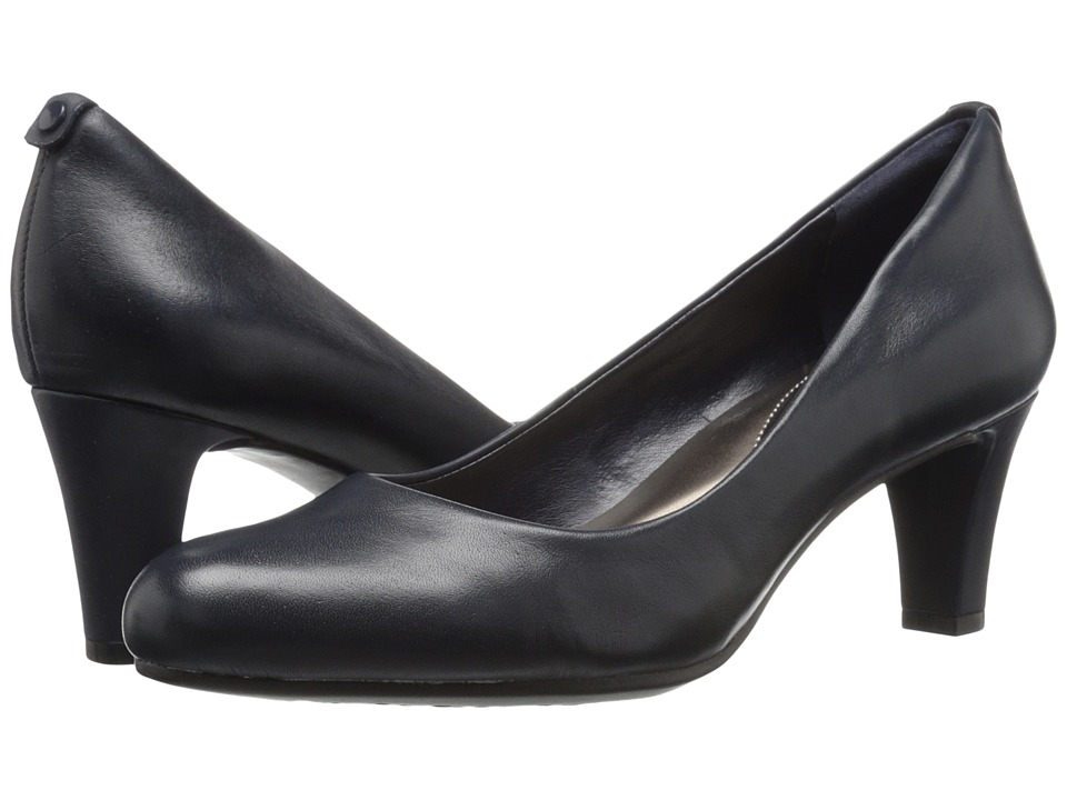 Easy Spirit - Avalyn (Navy Leather) Women's Shoes