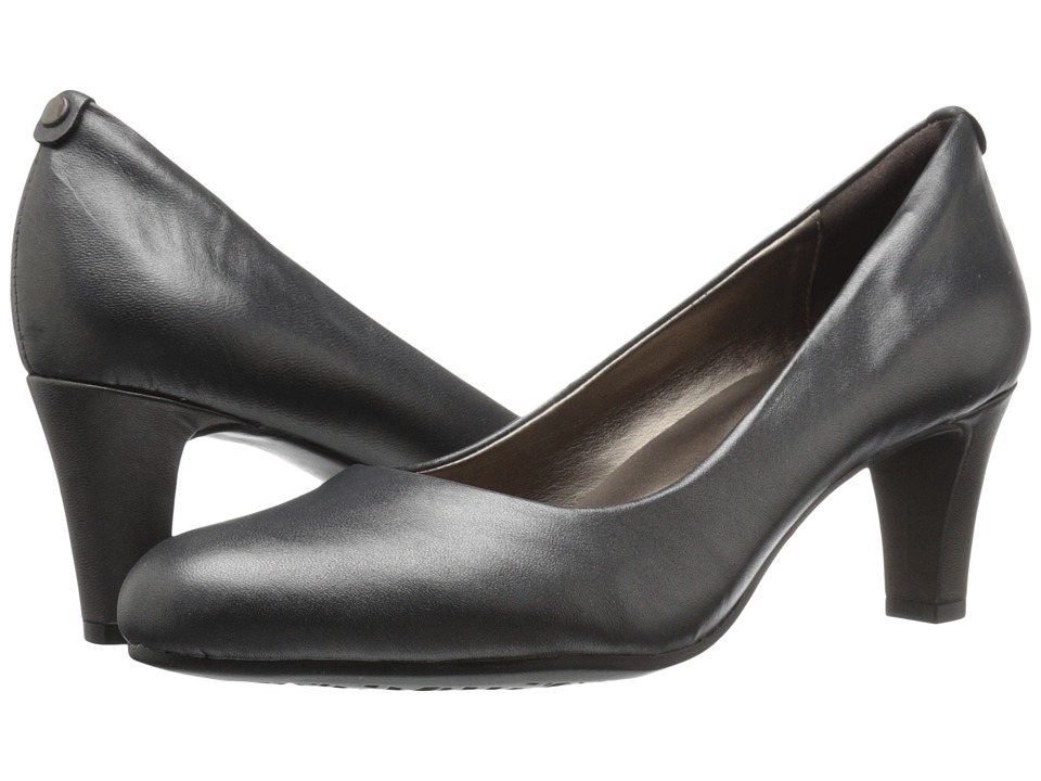 Easy Spirit - Avalyn (Dark Pewter Leather) Women's Shoes