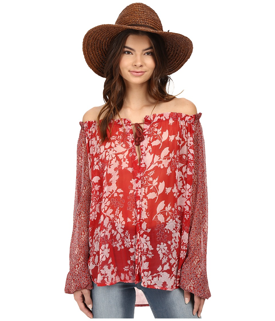 Free People - Hendrix Off the Shoulder Blouse (Red) Women's Blouse