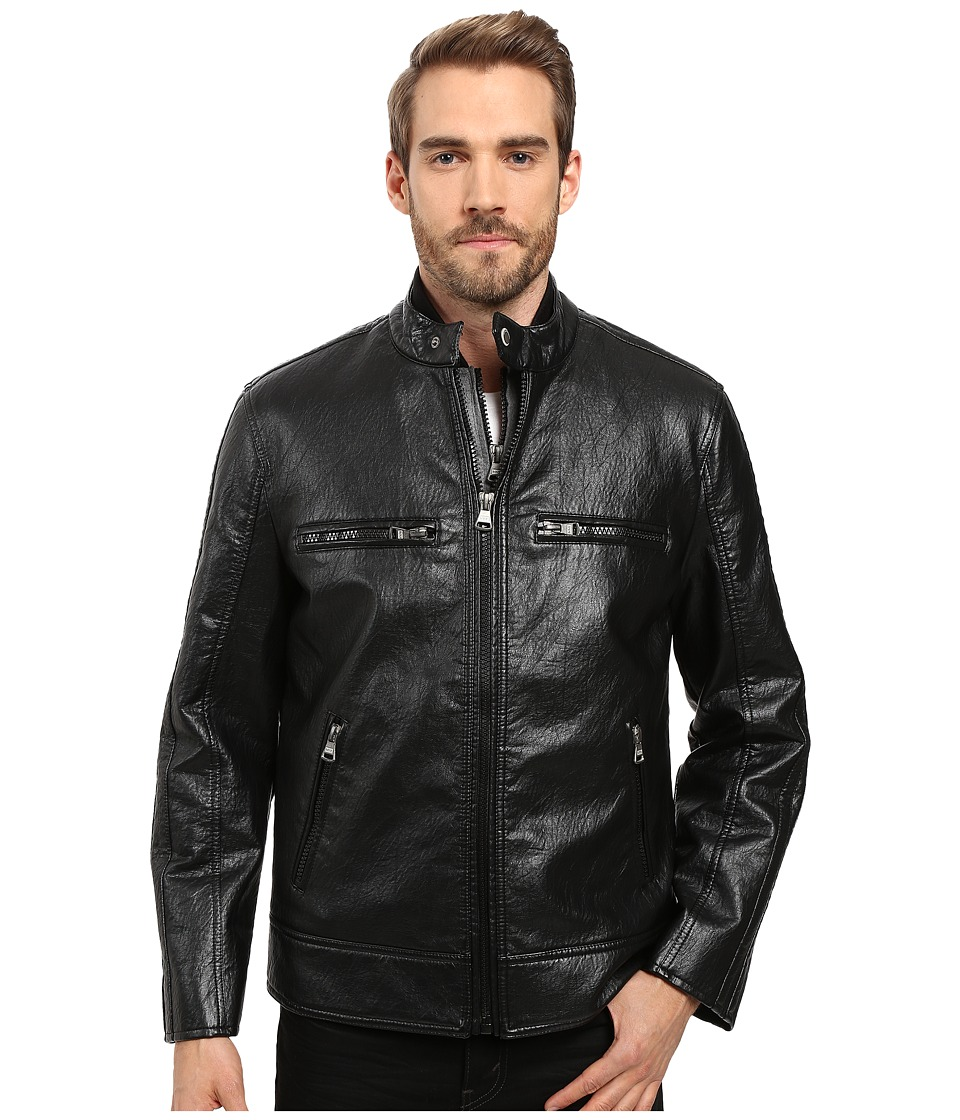 Marc New York by Andrew Marc - Anson Distressed Faux Leather 3-in-1 Jacket w/ Removable Vest (Black) Men's Coat