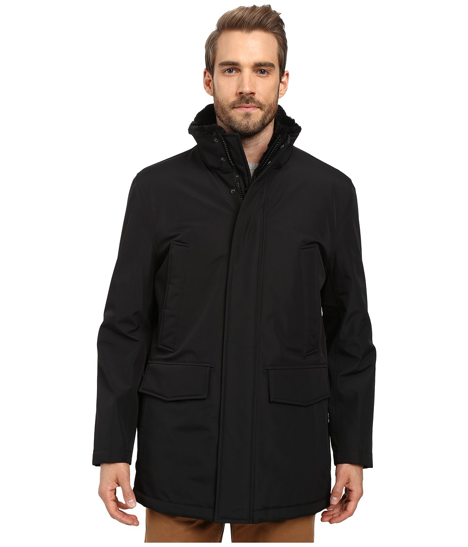 Marc New York by Andrew Marc - Tolland Car Coat w/ Faux Fur Lining (Black) Men's Coat
