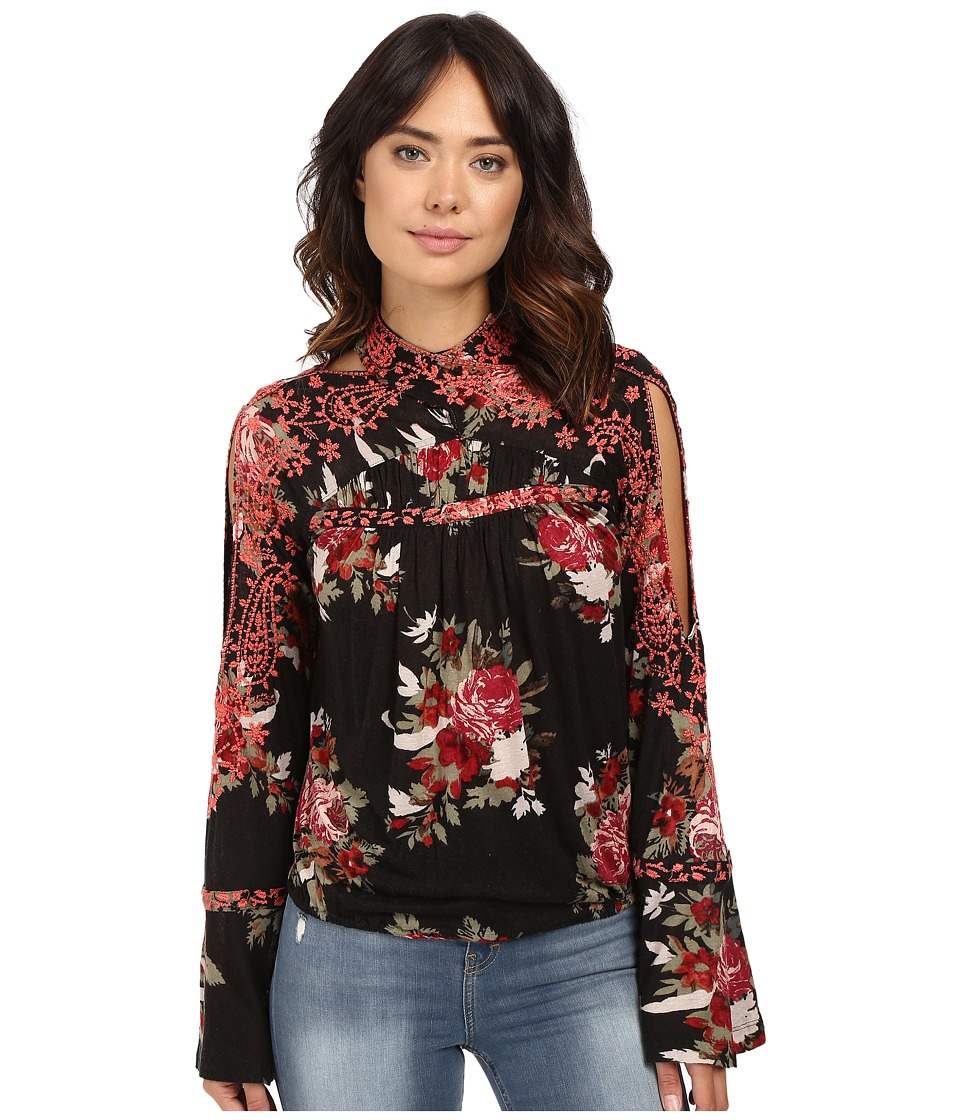 Free People - Bainbridge Top (Black) Women's Clothing
