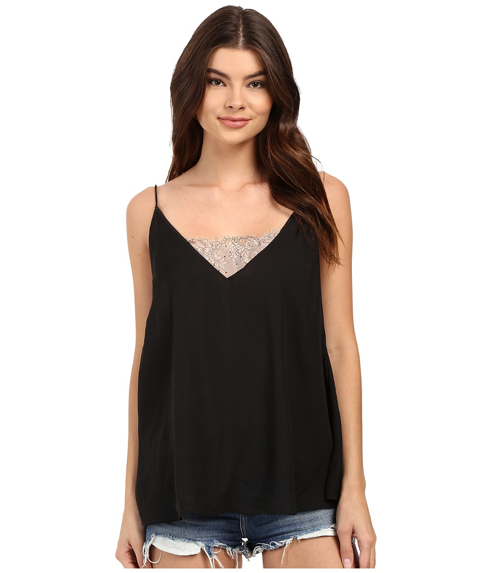 Free People - Sweetest V Bandeau Cami (Black) Women's Sleeveless