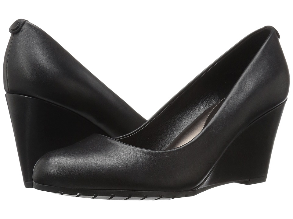 Easy Spirit - Clauda (Black Leather) Women's Shoes