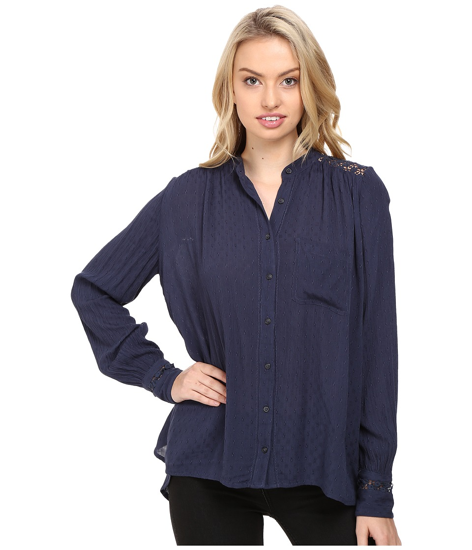 Free People - The Best Button Down (Navy) Women's Clothing