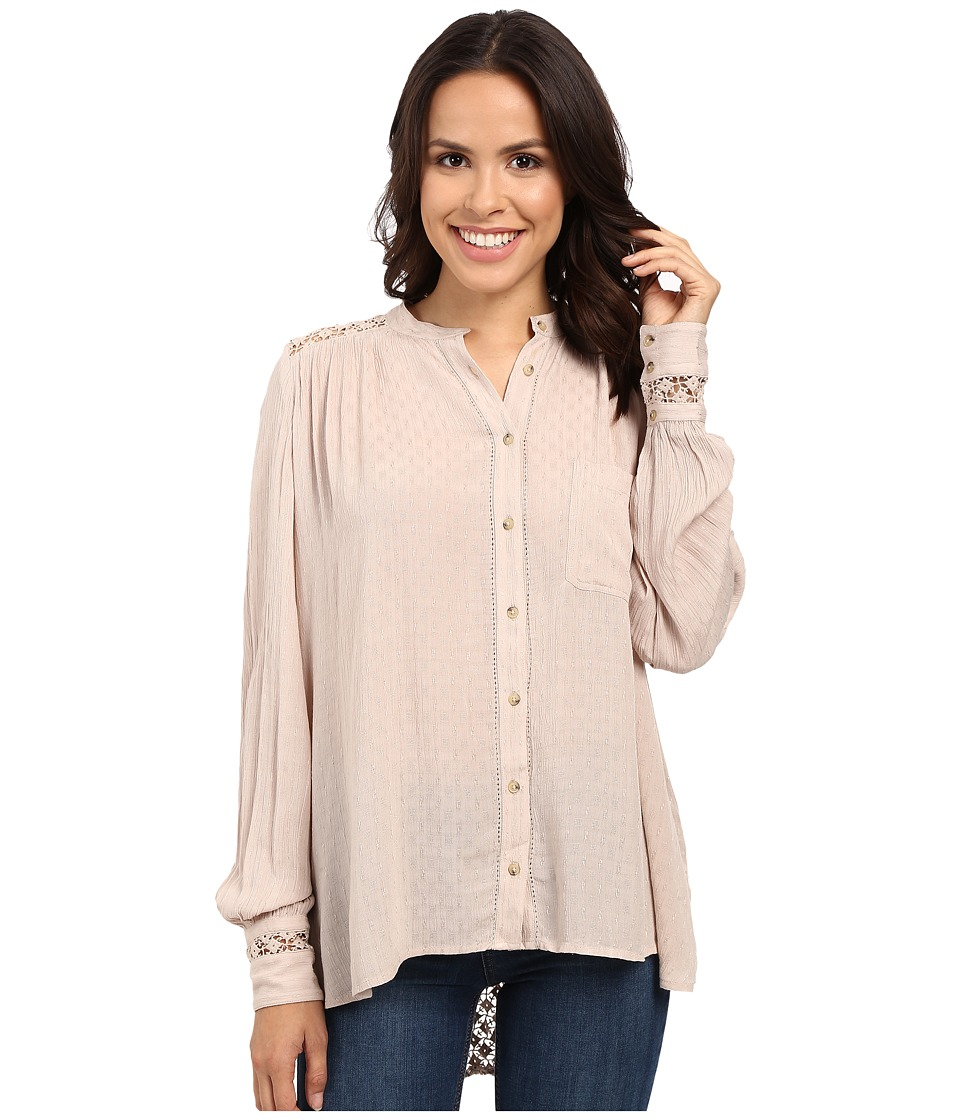 Free People - The Best Button Down (Beige) Women's Clothing