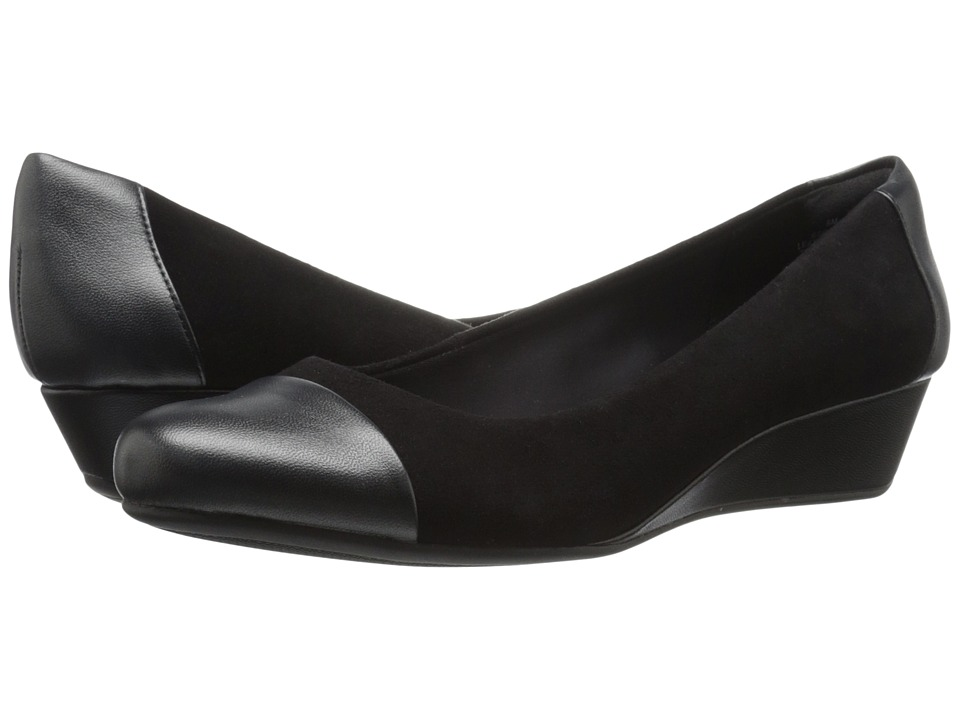 Easy Spirit - Daneri (Black/Black Suede) Women's Shoes