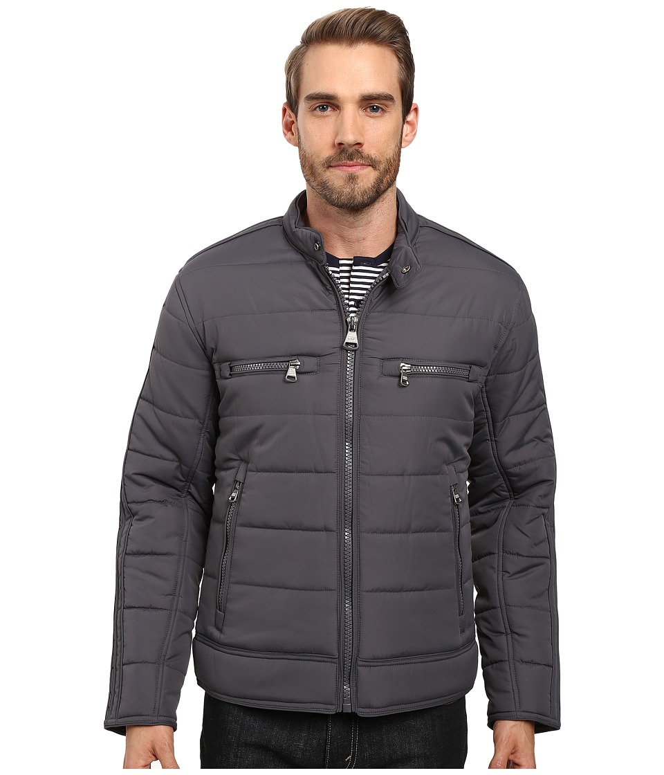 Marc New York by Andrew Marc - Belknap Quilted Moto Jacket (Fog) Men's Coat