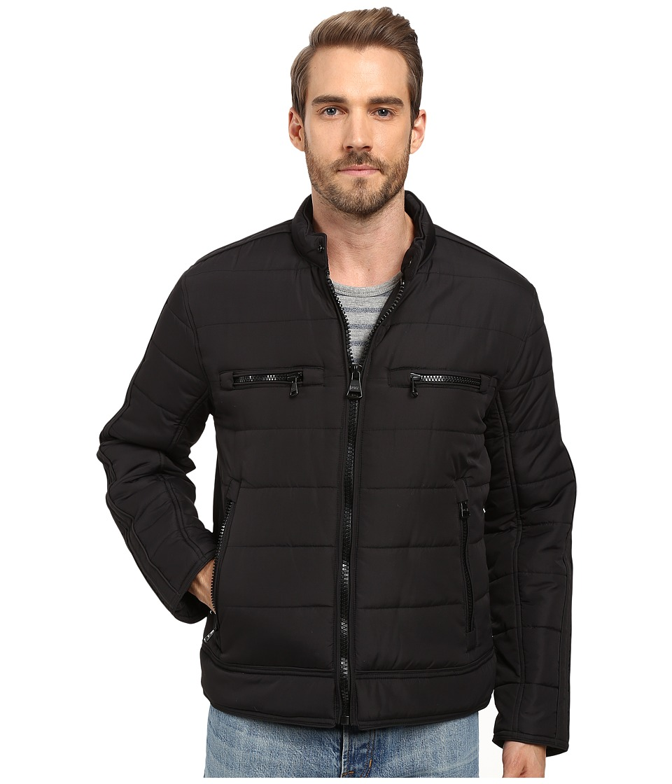 Marc New York by Andrew Marc - Belknap Quilted Moto Jacket (Black) Men's Coat