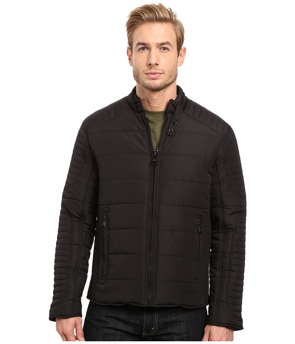 Marc New York by Andrew Marc - York Moto Jacket (Black) Men's Coat