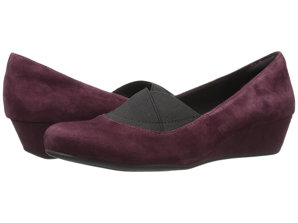 Easy Spirit - Davani (Wine/Black Suede) Women's Shoes