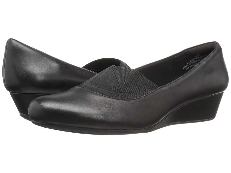 Easy Spirit Davani (Black/Black Leather) Women