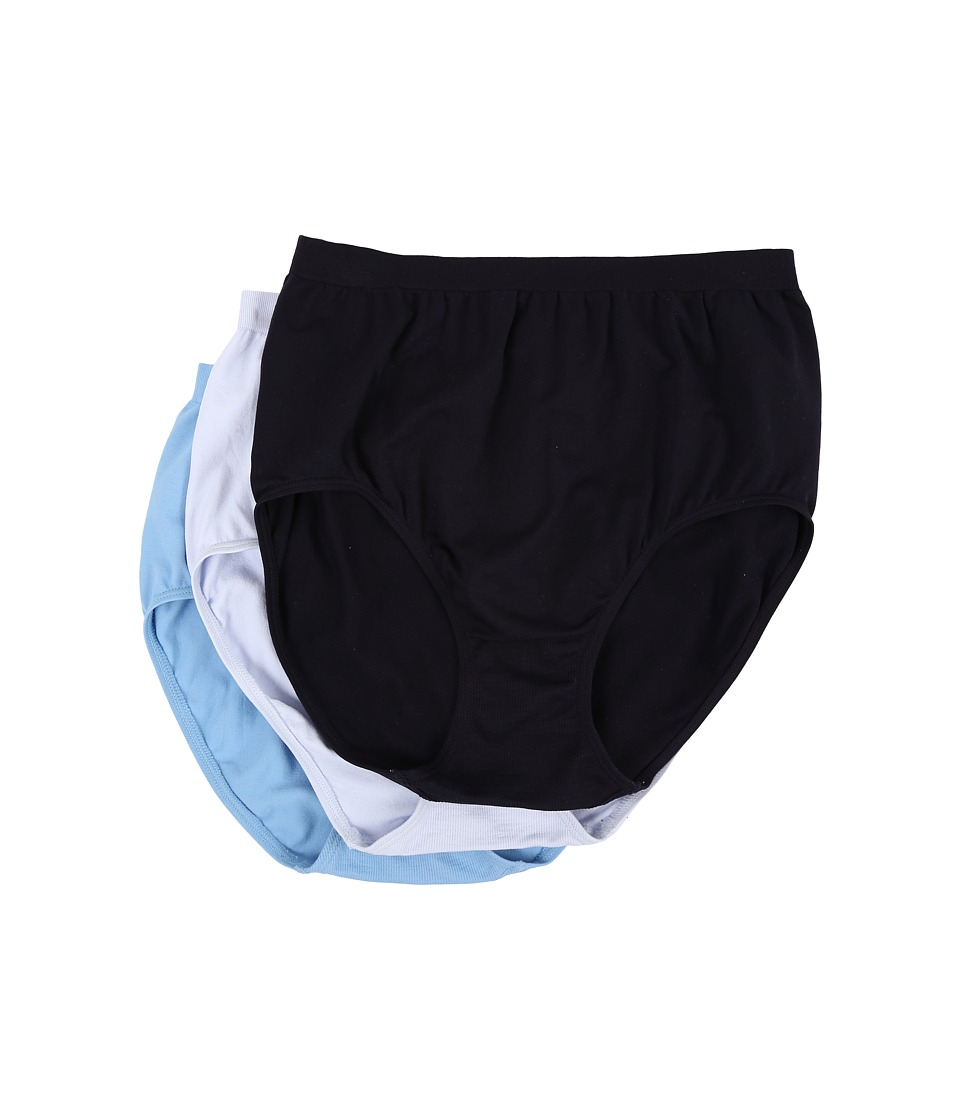 Jockey - Comfies Micro Classic Fit Brief (Night Blue/Sails Blue/Wake Blue) Women's Underwear