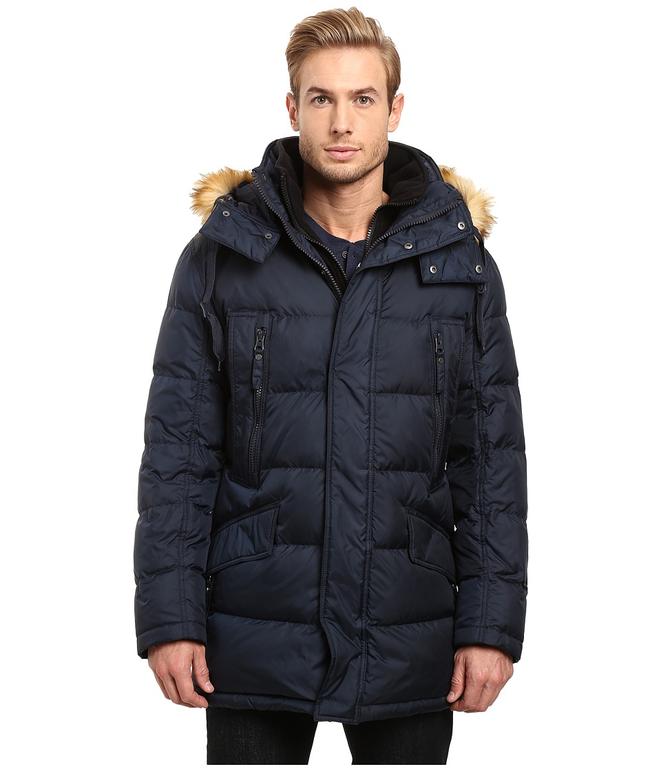 Marc New York by Andrew Marc - Hancock Down Parka w/ Removable Hood and Fleece Bib (Ink) Men's Coat