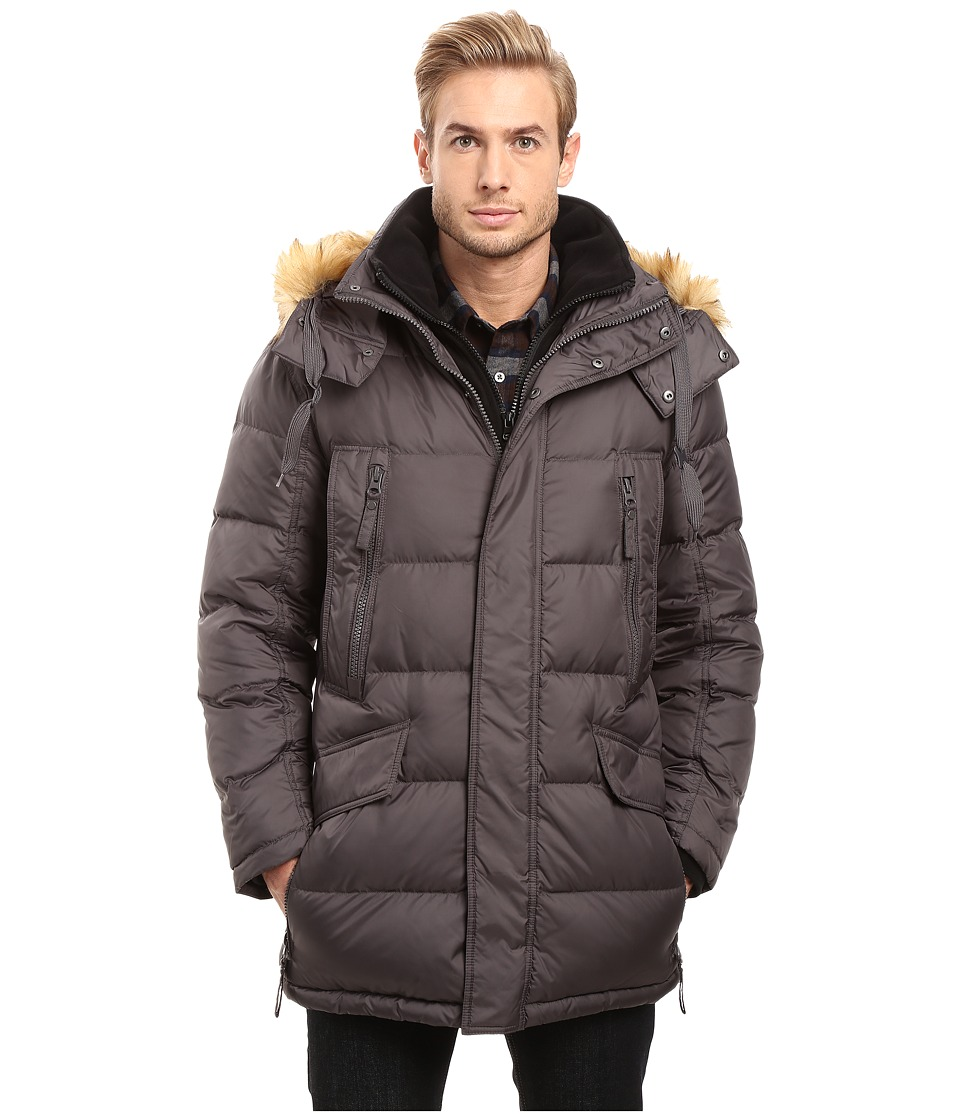 Marc New York by Andrew Marc - Hancock Down Parka w/ Removable Hood and Fleece Bib (Fog) Men's Coat