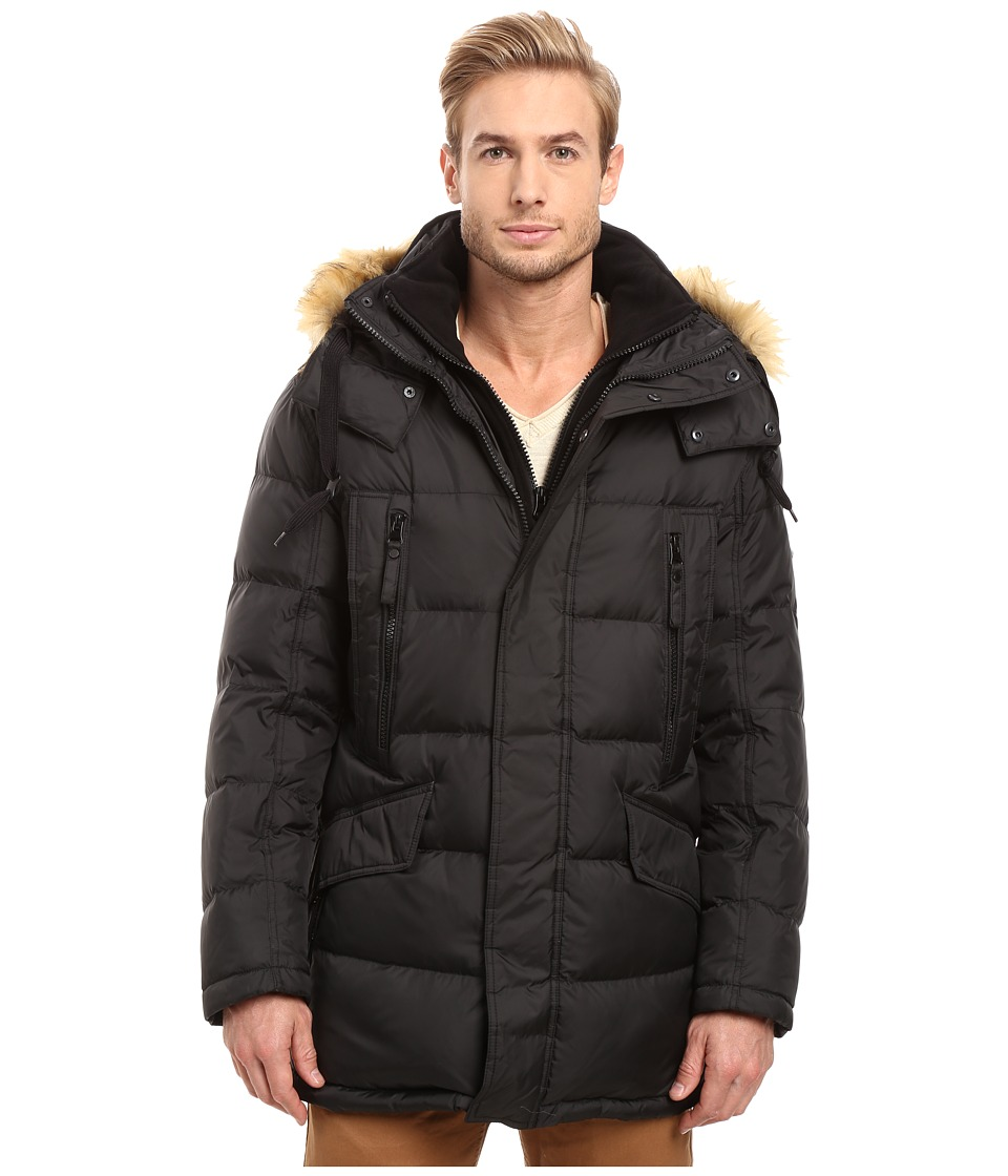 Marc New York by Andrew Marc - Hancock Down Parka w/ Removable Hood and Fleece Bib (Black) Men's Coat