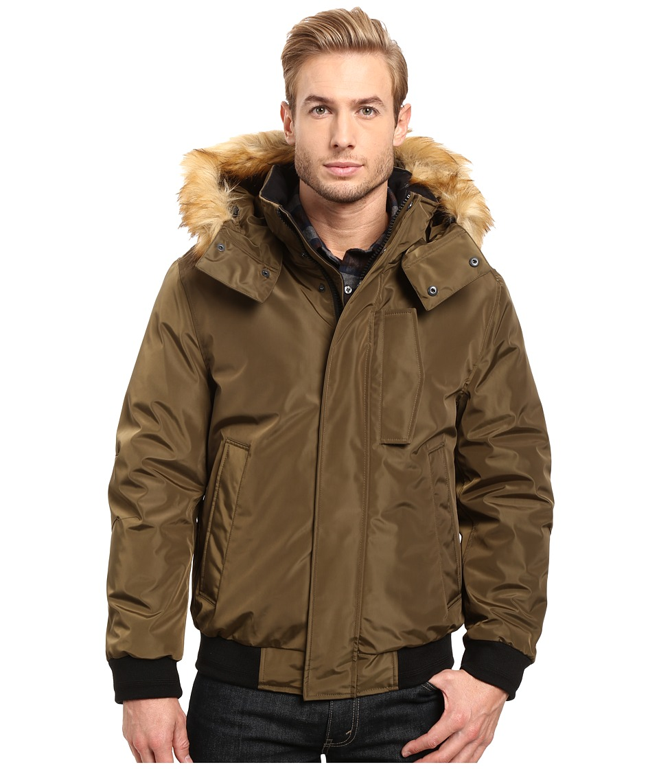 Marc New York by Andrew Marc - Knox Down Bomber w/ Removable Faux Fur Hood (Grove) Men's Coat