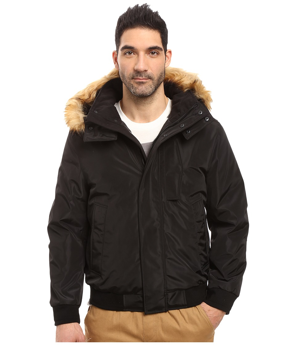Marc New York by Andrew Marc - Knox Down Bomber w/ Removable Faux Fur Hood (Black) Men's Coat