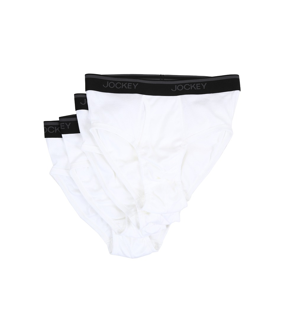 Jockey - Staycool Brief - 4 Pack (White) Men's Underwear