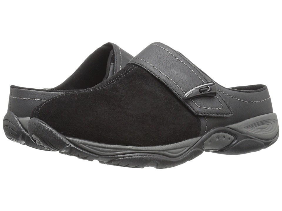Easy Spirit - Eliana (Black/Black Suede) Women's Shoes