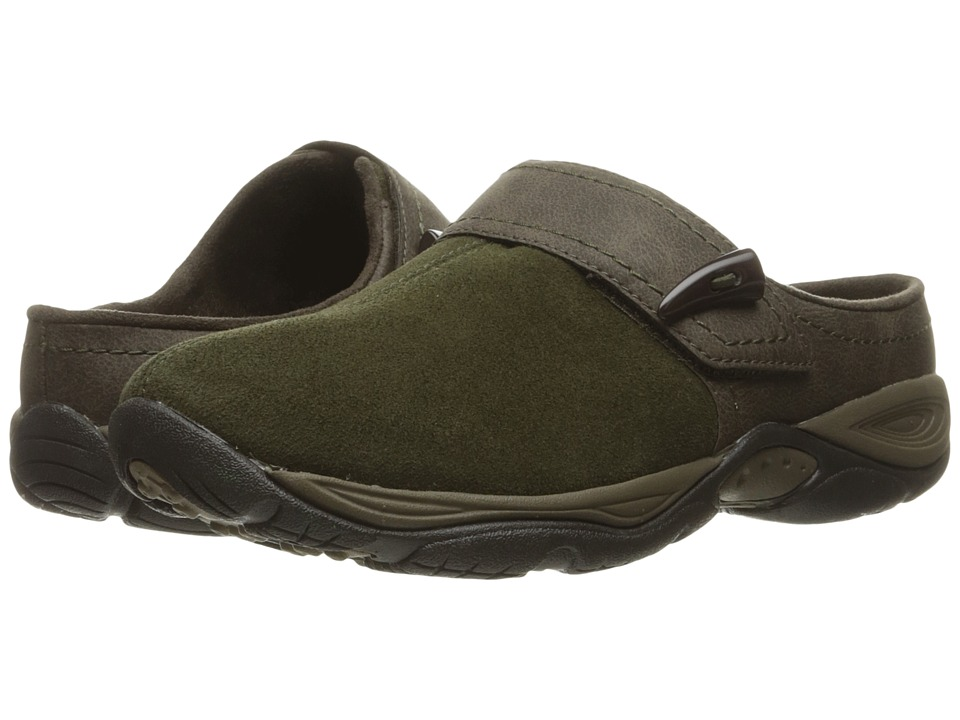 Easy Spirit - Eliana (Dark Green/Brown Suede) Women's Shoes