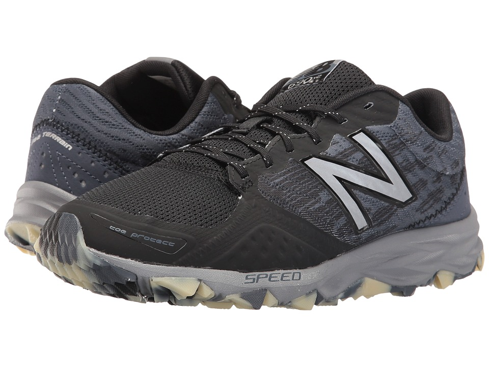 New Balance - T690v2 (Black/Grey/Glow) Men's Running Shoes