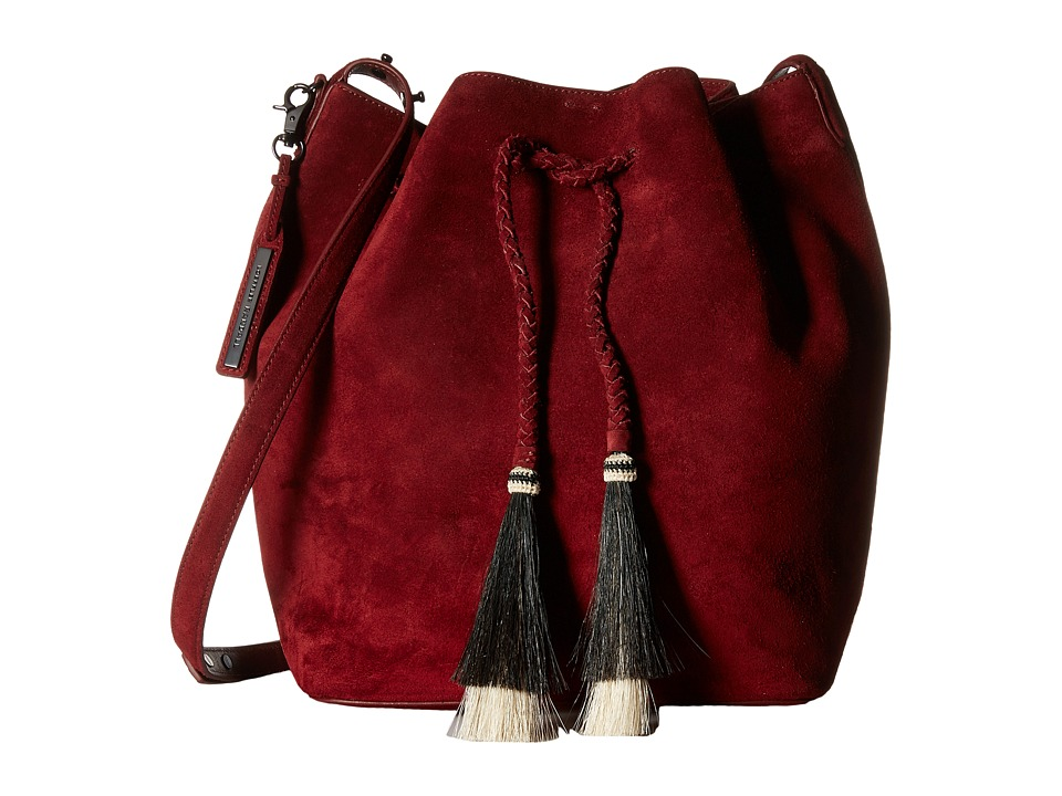 Loeffler Randall - Drawstring Hobo (Port/Black Natural) Hobo Handbags