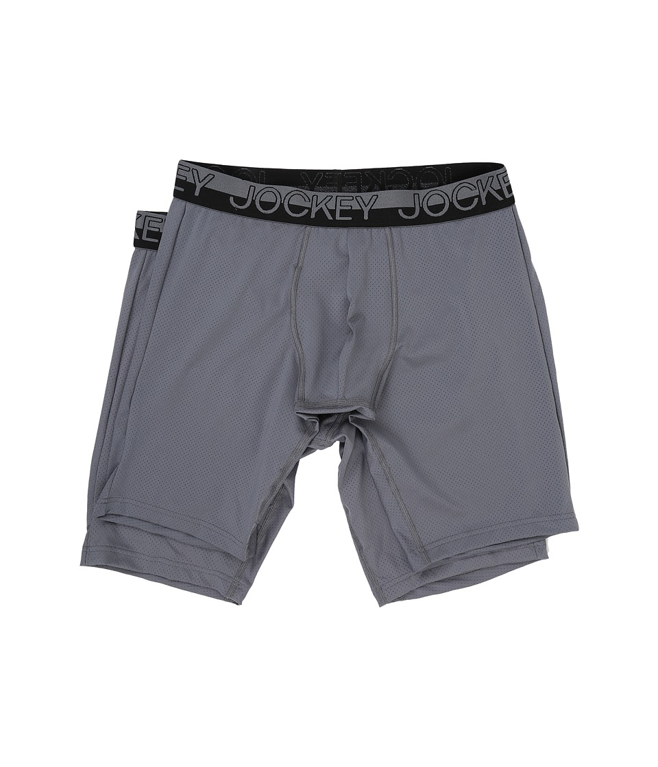 Jockey - Sport Mesh Midway Brief 2-Pack (Grey) Men's Underwear