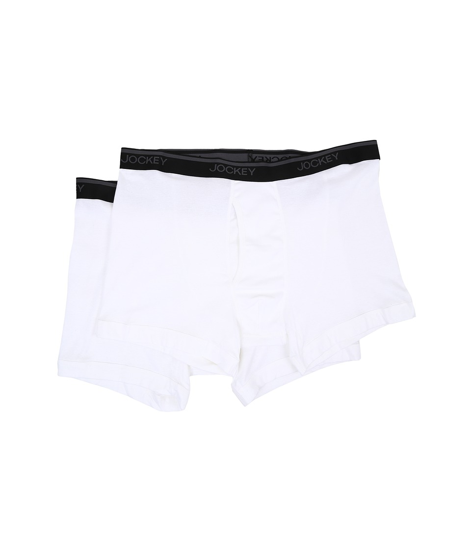 Jockey - Big Man Staycool Classic Fit Boxer Brief 2-Pack (White) Men's Underwear