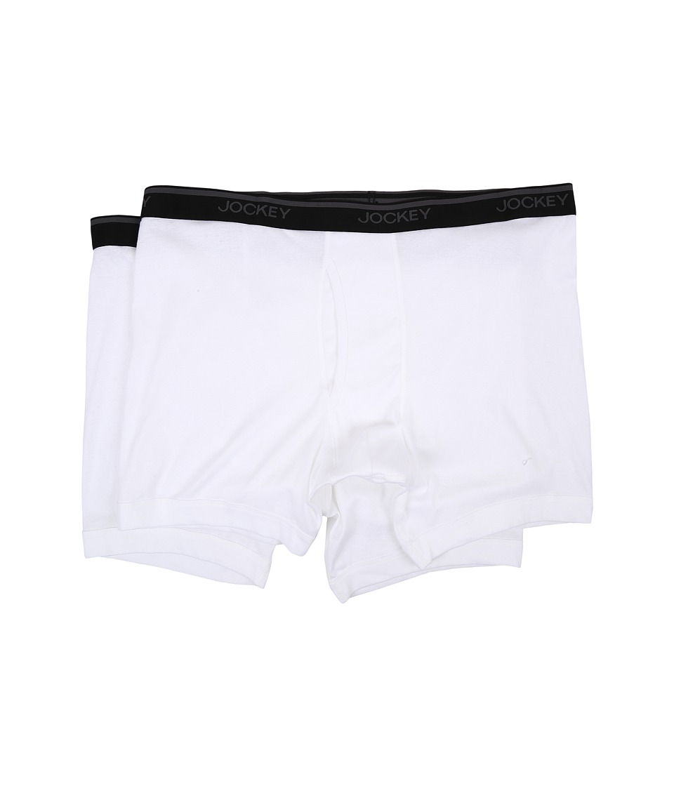 Jockey - Big Man Staycool Midway Brief 2-Pack (White) Men's Underwear