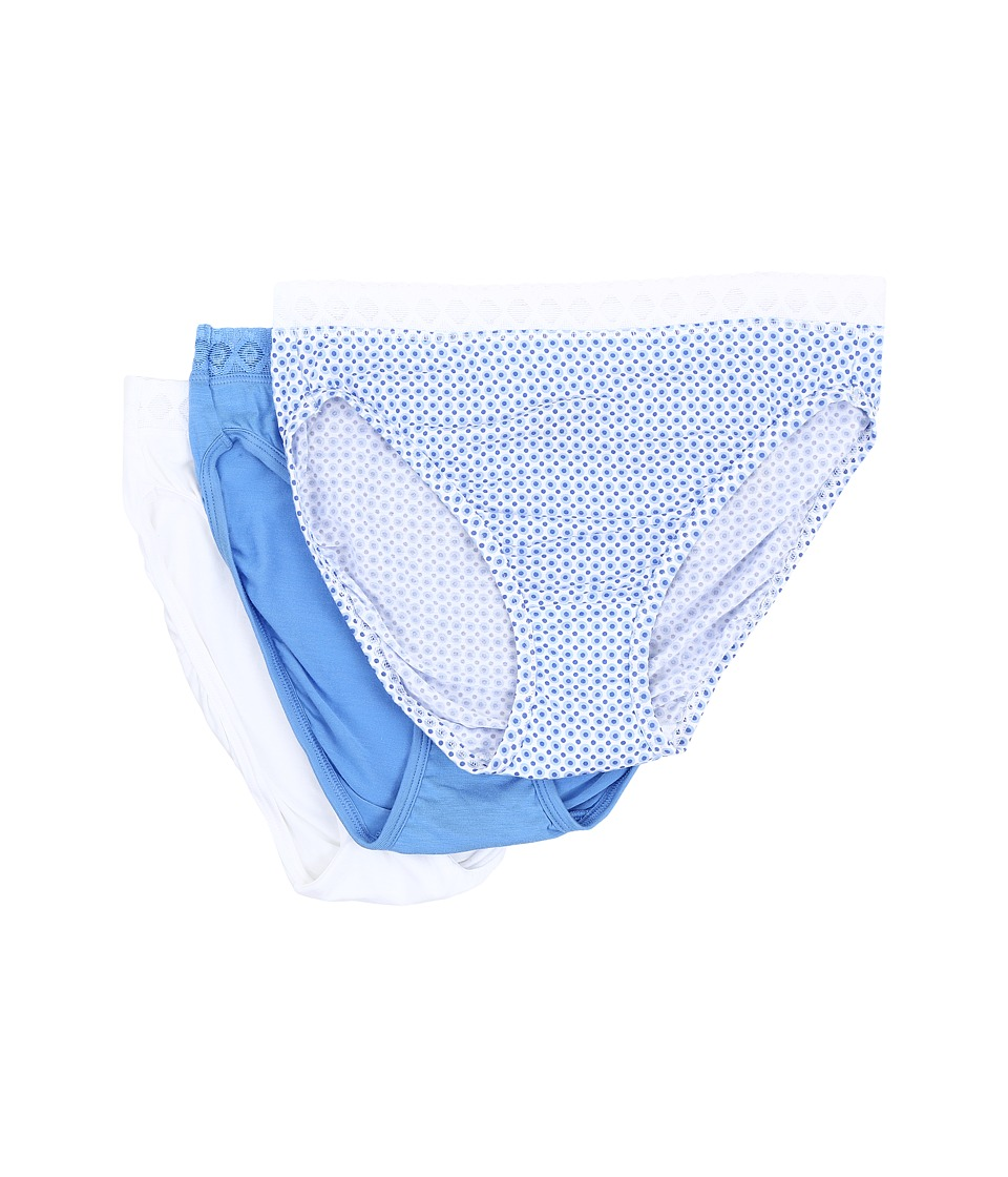 Jockey - Elance Supersoft Lace Classic Fit French Cut (Fun Dot/Periwinkly Sky/White) Women's Underwear