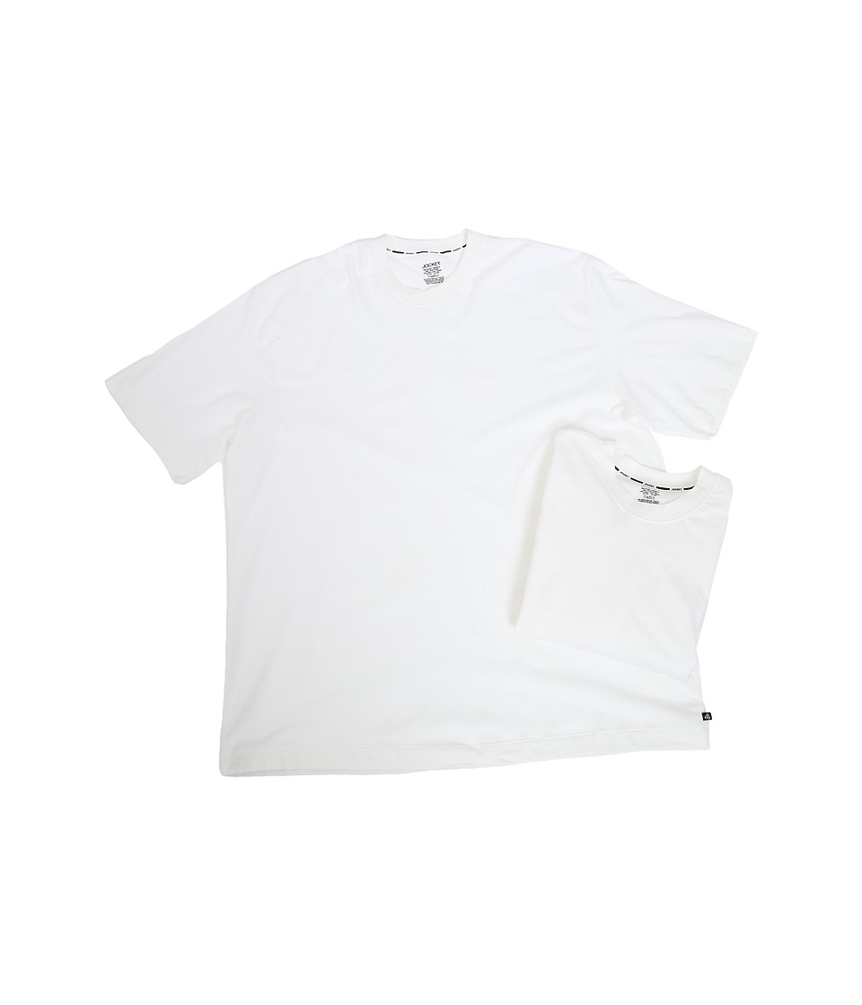 Jockey - Big Man Staycool Cotton Modern Fit Crew T-Shirt (White) Men's T Shirt