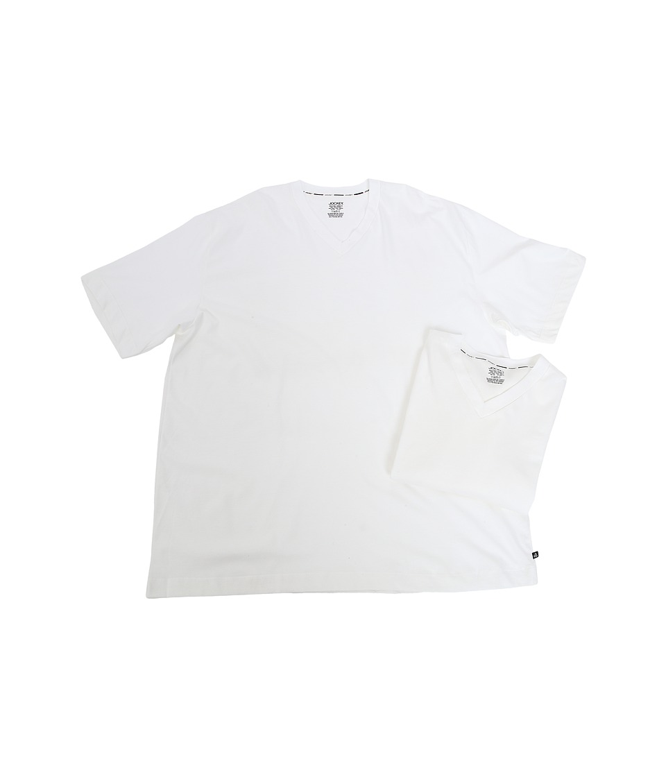 Jockey - Big Man Staycool Cotton Modern Fit V-Neck T-Shirt (White) Men's T Shirt
