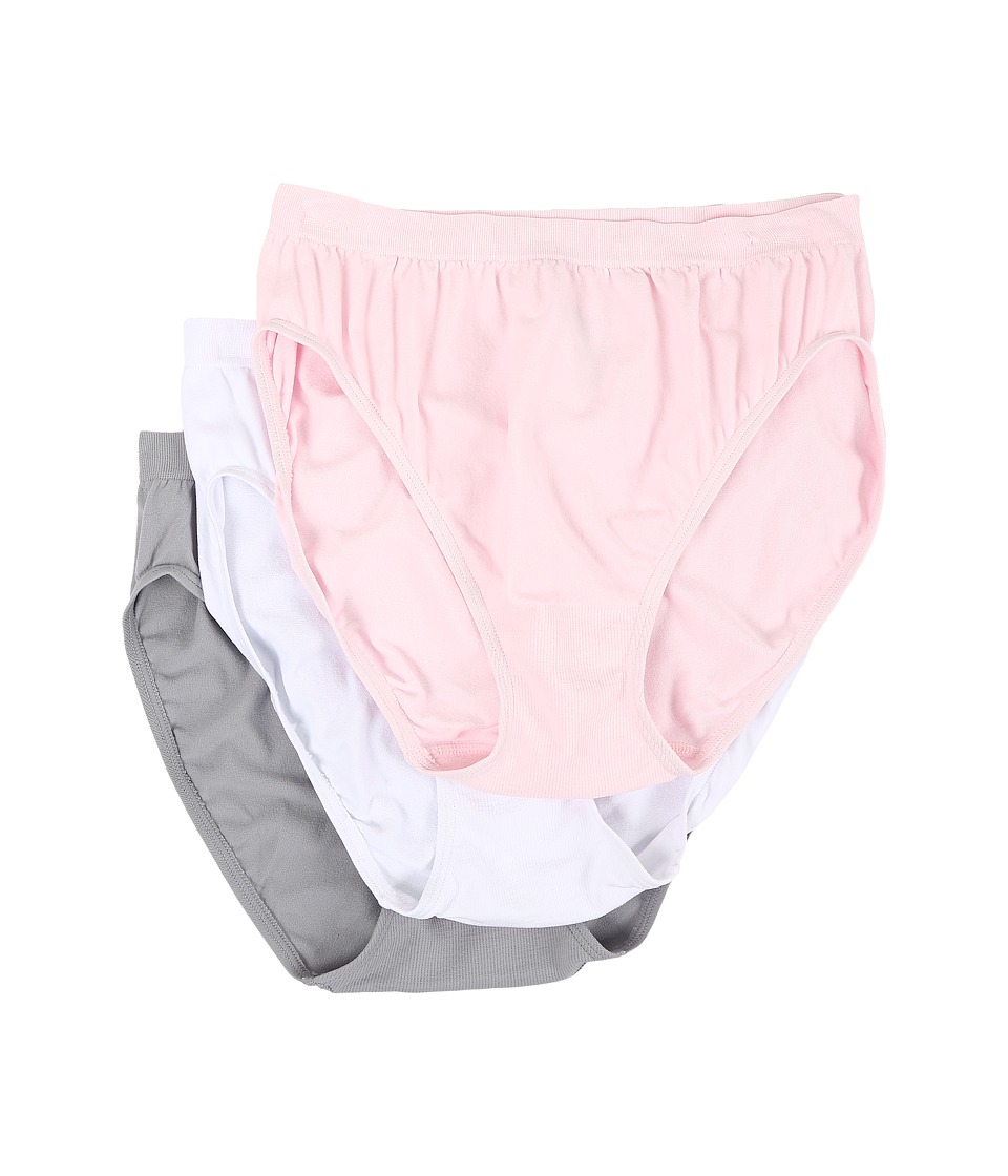 Jockey - Comfies Micro Classic Fit French Cut (Pink/White/Grey) Women's Underwear