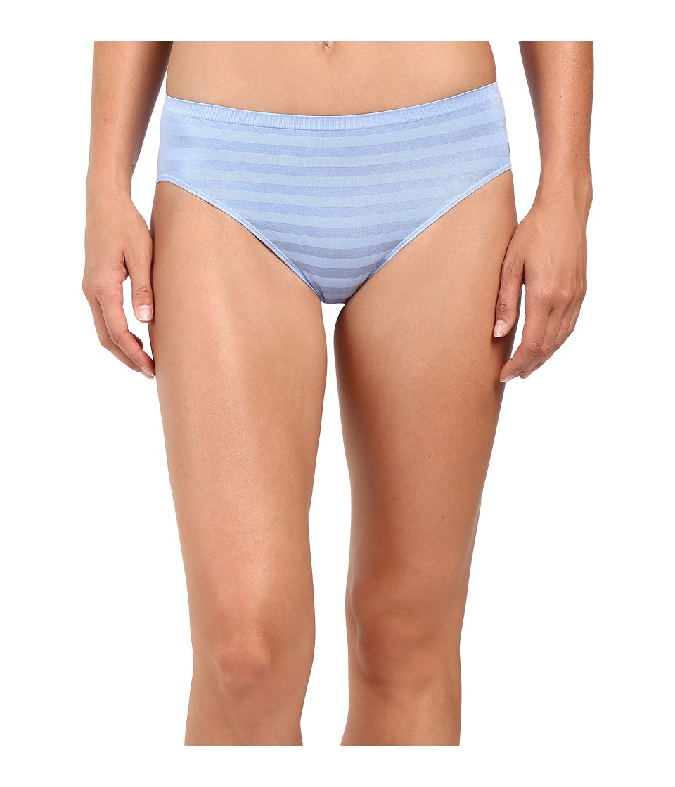 Jockey - Comfies Matte Shine Hi Cut (Soft Sky Blue) Women's Underwear