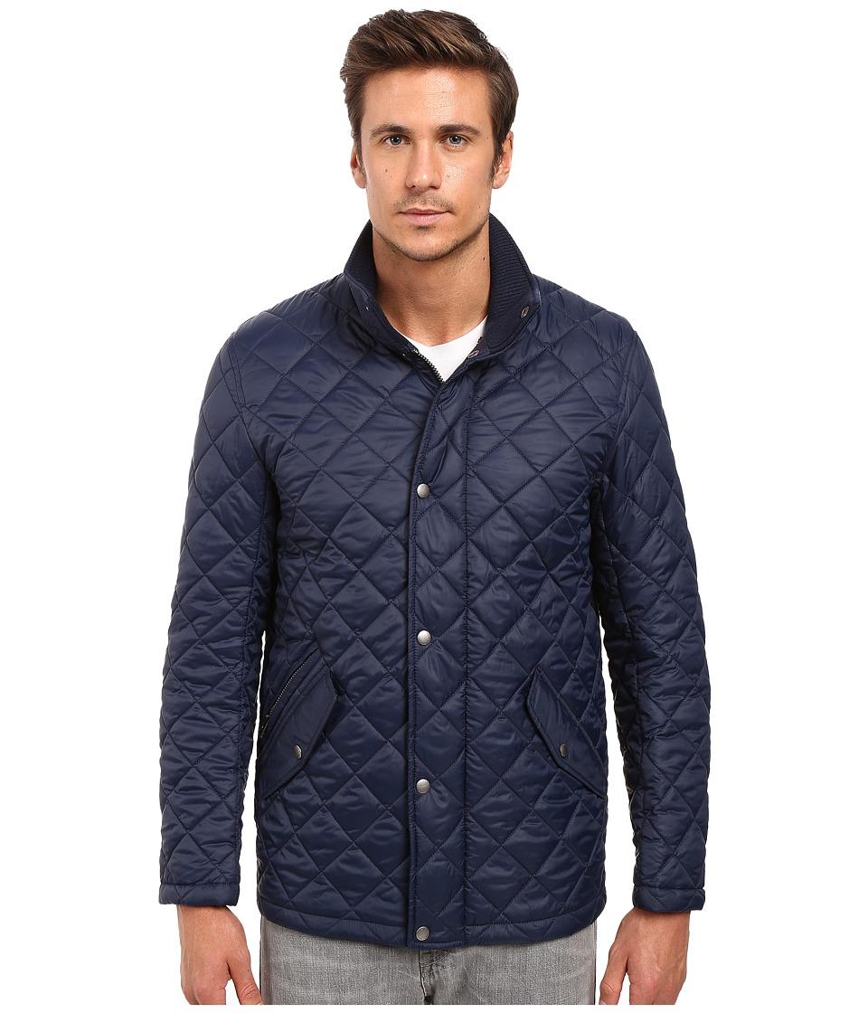 Cole Haan - Quilted Barn Jacket (Navy) Men's Coat