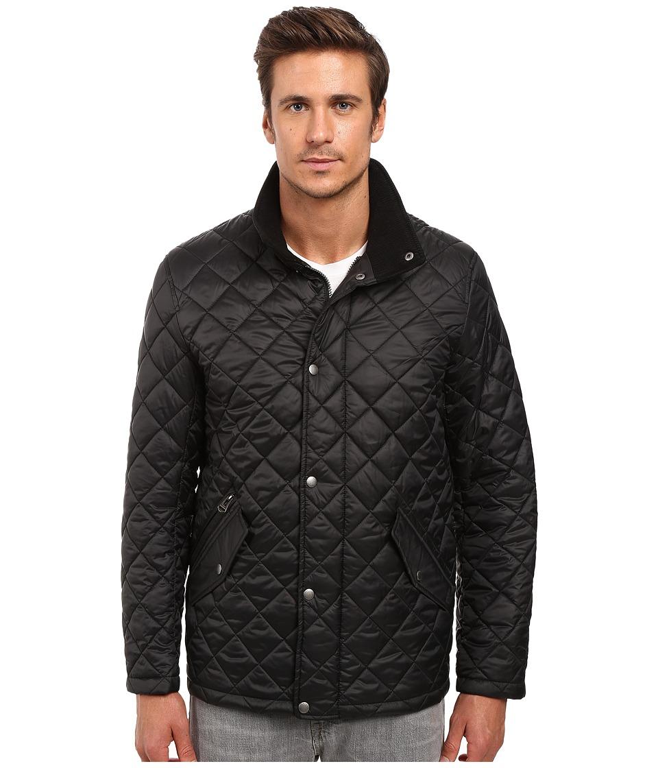 Cole Haan - Quilted Barn Jacket (Black) Men's Coat