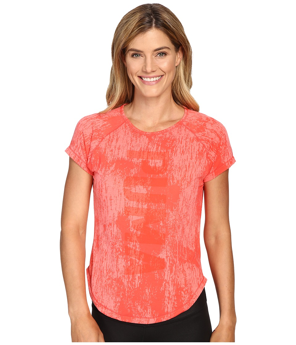 PUMA - Dancer Puma Burnout Tee (Sunkist Coral Heather) Women's T Shirt