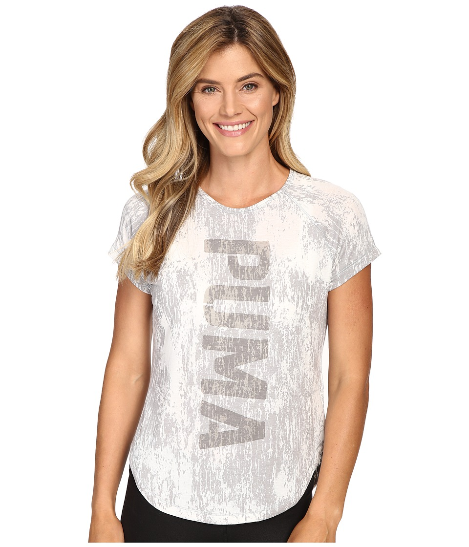 PUMA Dancer Puma Burnout Tee (Light Gray Heather) Women