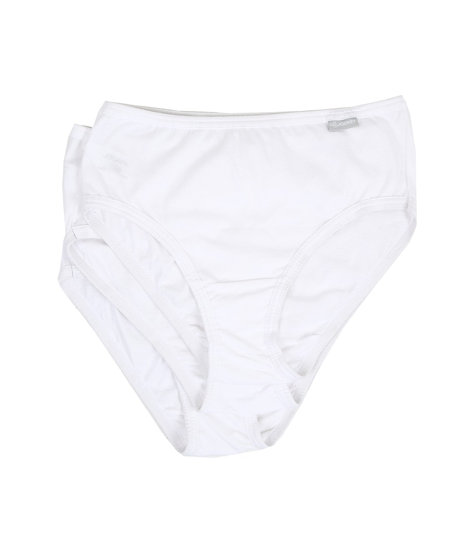 Jockey - Elance Cotton Classic Fit Hipster (White) Women's Underwear