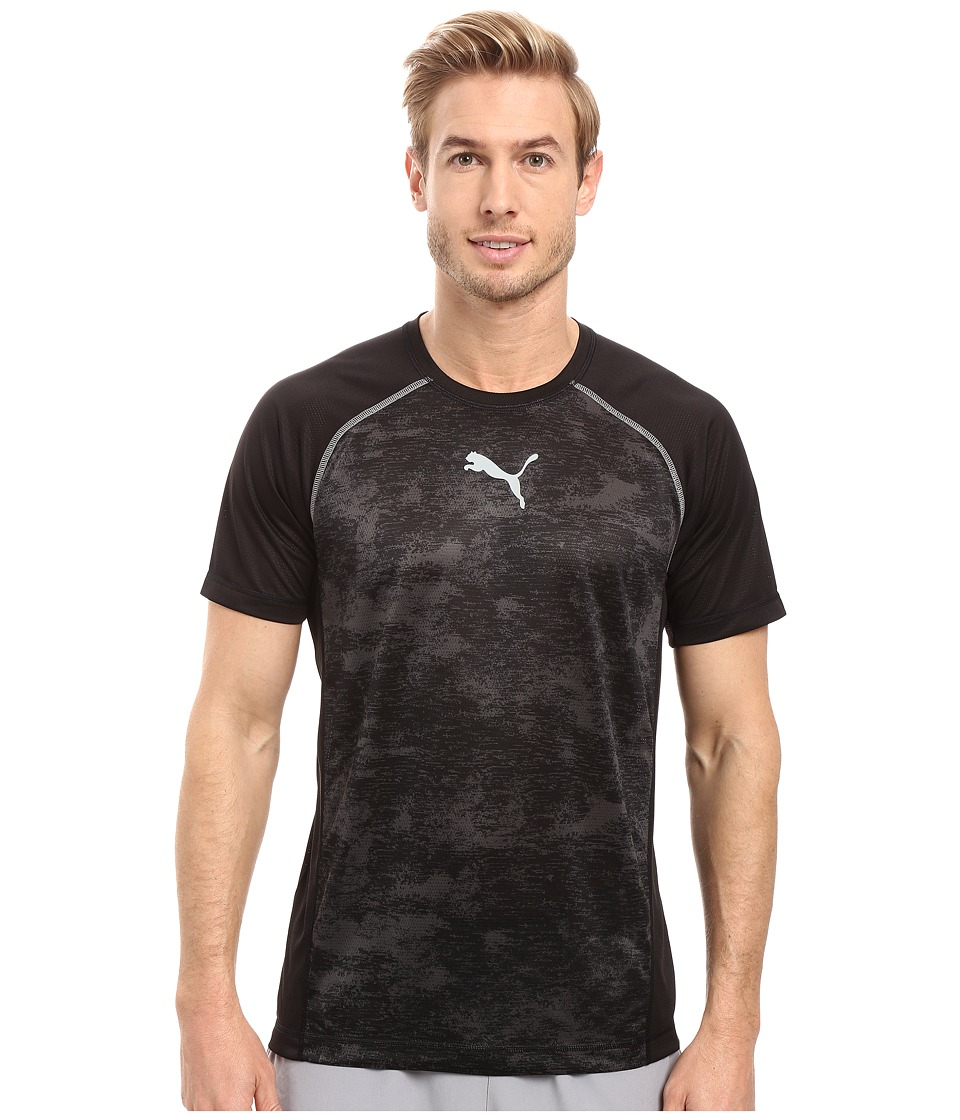 PUMA Vent Short Sleeve Tee (Puma Black/Asphalt) Men