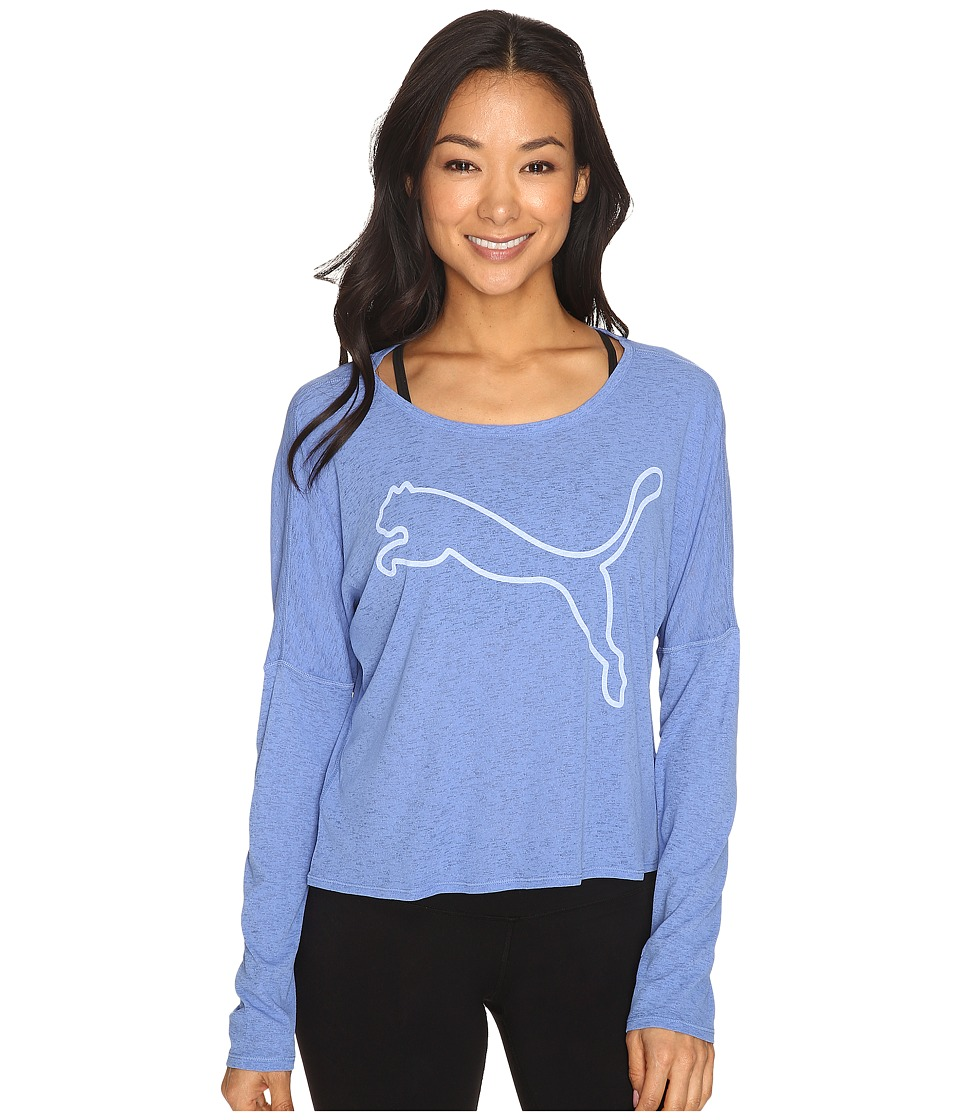 PUMA - The Good Life Long Sleeve (Wedgewood) Women's Long Sleeve Pullover