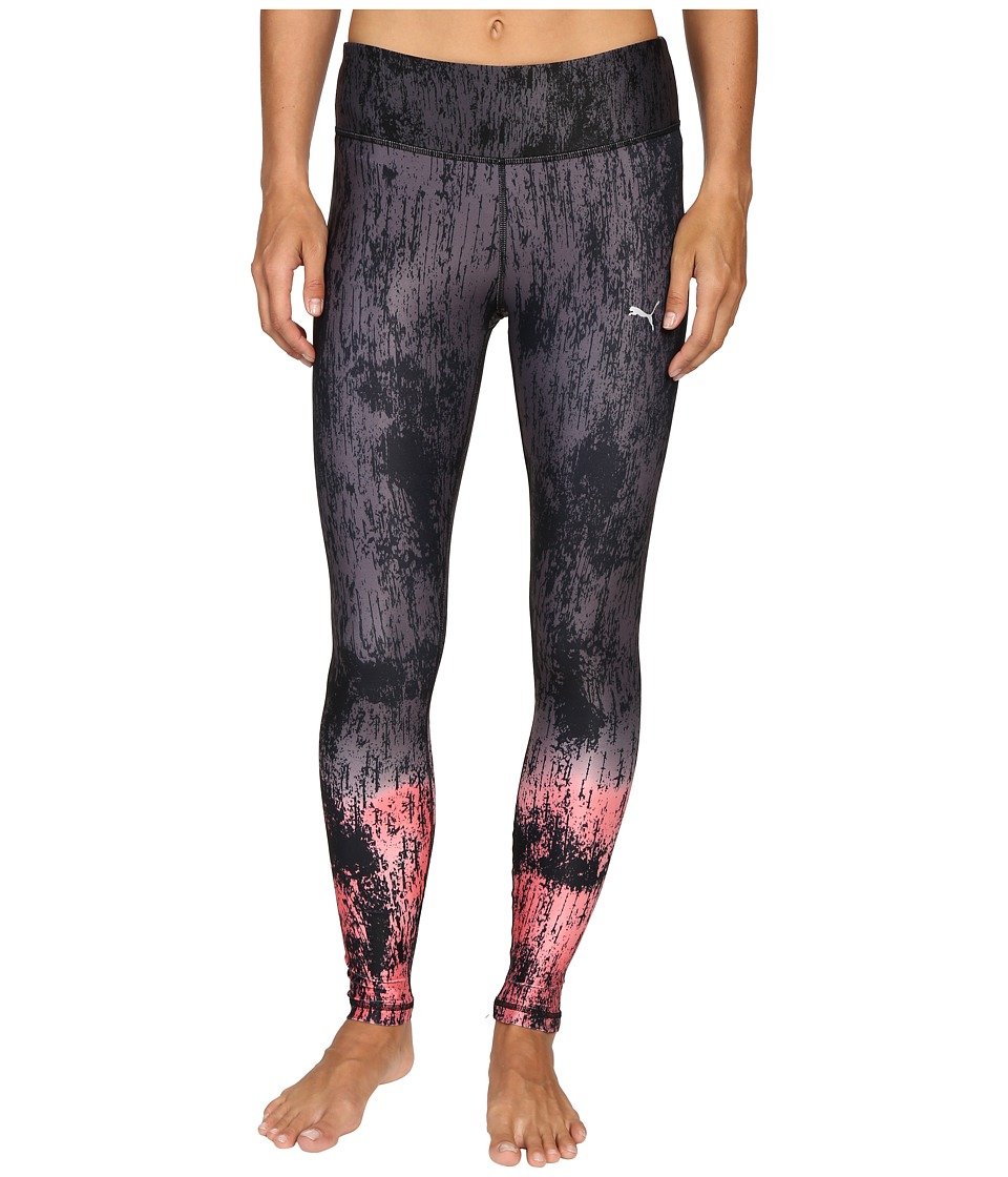 PUMA - All Eyes On Me Tights (Periscope/Puma Black/Sunkist Coral) Women's Clothing