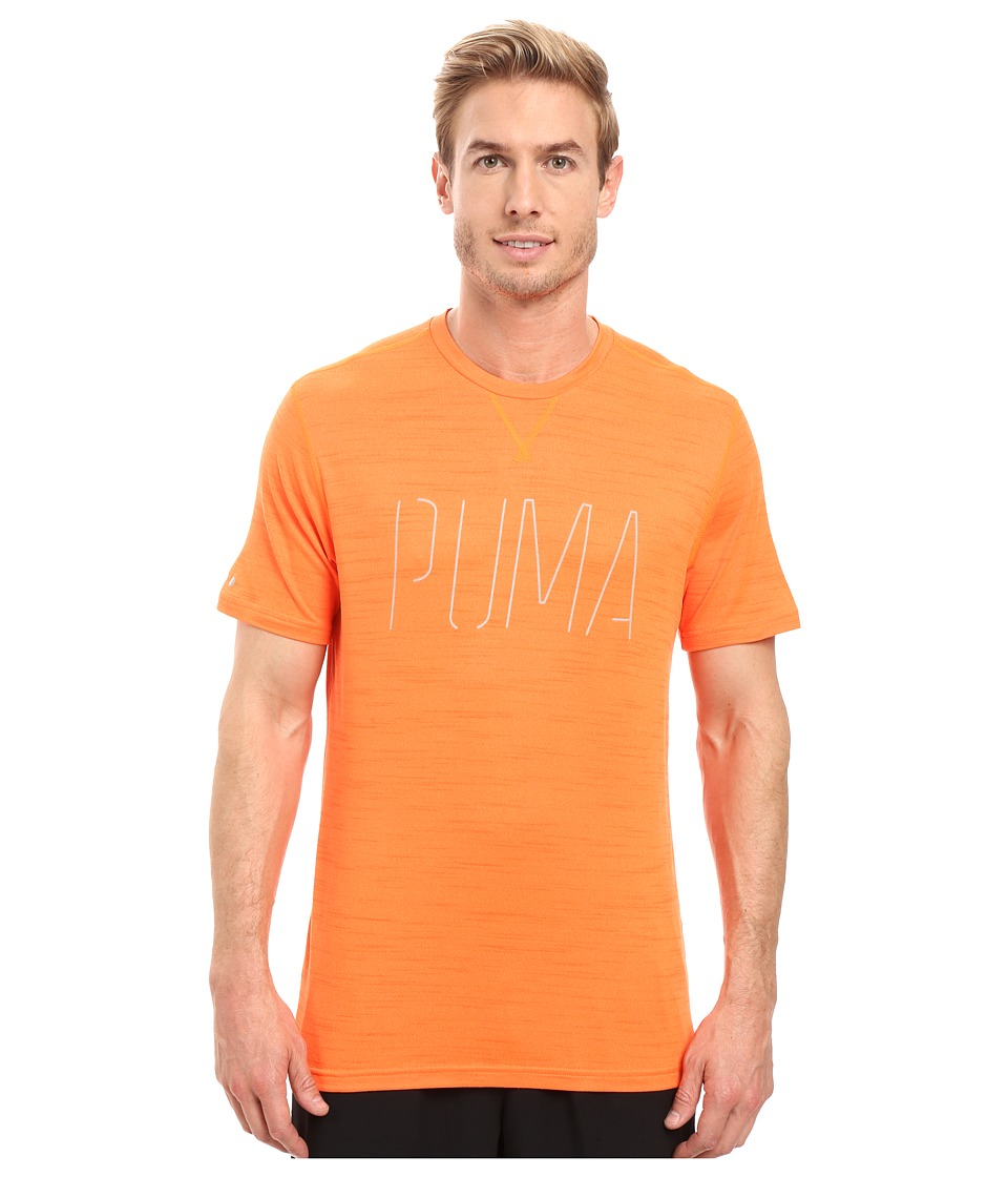 PUMA Nightcat Short Sleeve Tee (Shocking Orange Heather) Men