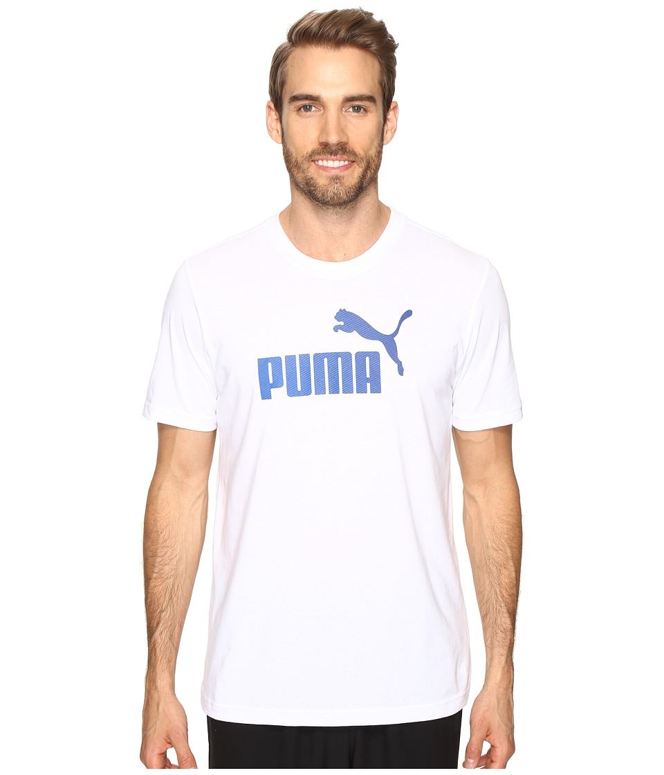 PUMA - #1 Logo Graphic Tee (PUMA White) Men's T Shirt