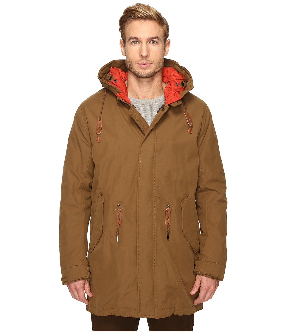 Cole Haan - Military Oxford Parka (Camel) Men's Coat