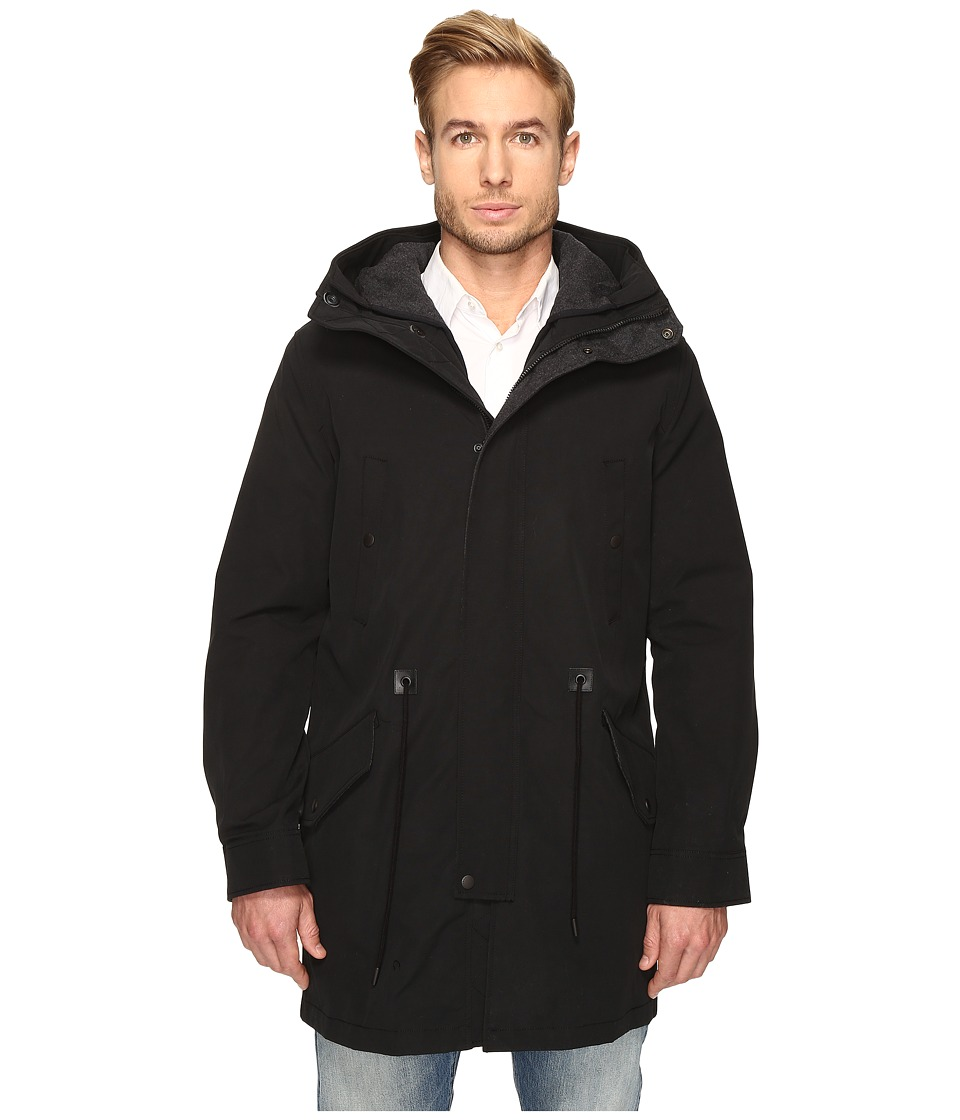 Cole Haan - Anorak with Quilted Removable Liner (Black) Men's Coat