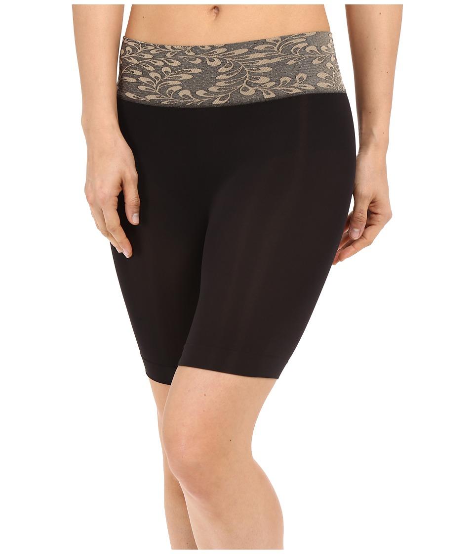 Jockey - Skimmies Luxe Lace Slipshorts (Black) Women's Underwear