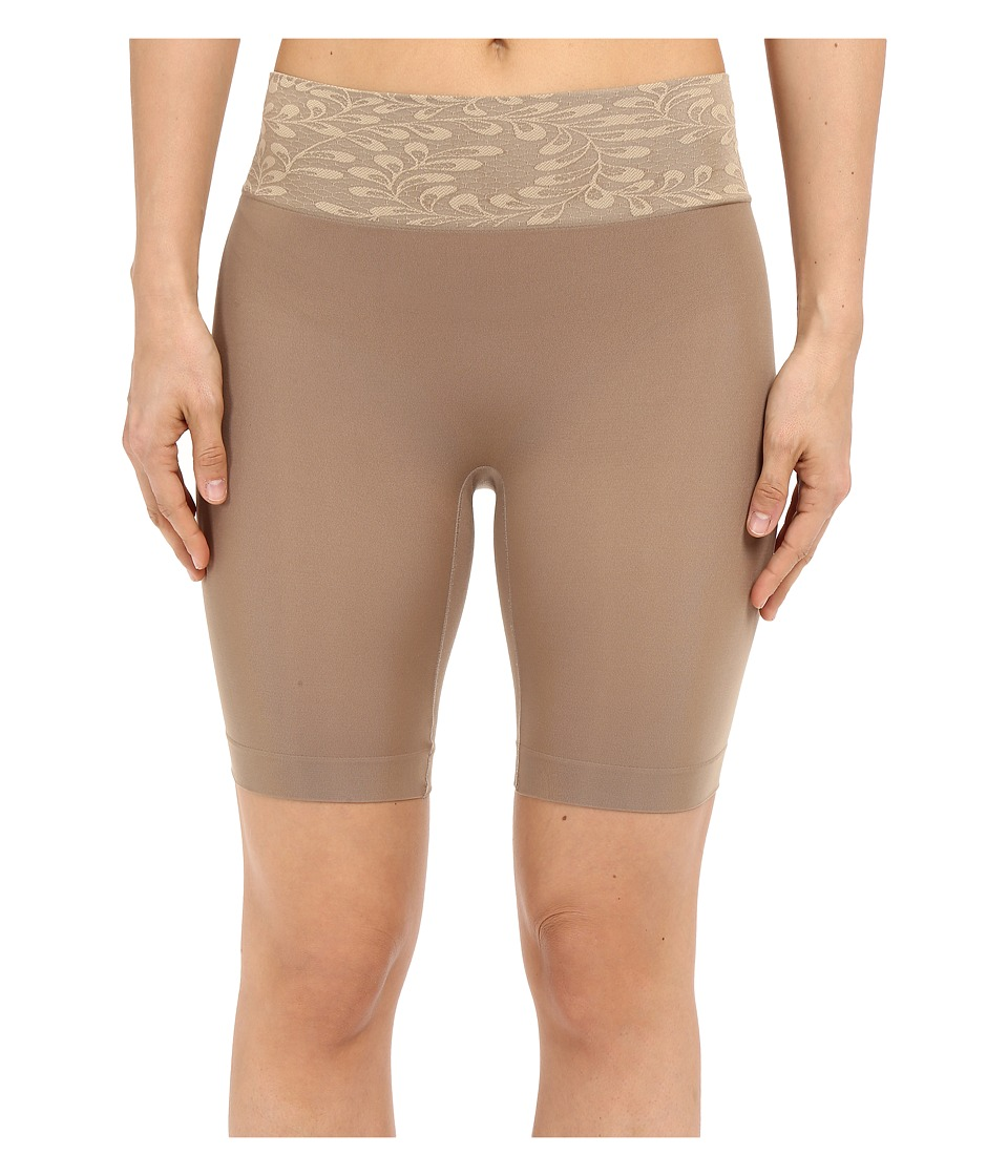 Jockey - Skimmies Luxe Lace Slipshorts (Deep Beige) Women's Underwear